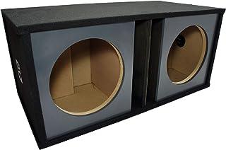 "Car Audio Dual 12"" Slot Vented Paintable Baffle Stereo Sub Box Enclosure photo"