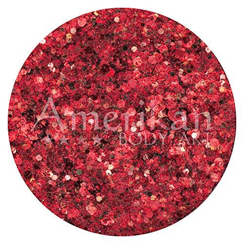 Amerikan Body Art Glitter Crème - Cosmos (10 g), cosmétique Polyester Glitter crémeuse au base, idéal pour la peinture de visage, Maquillage Glamour