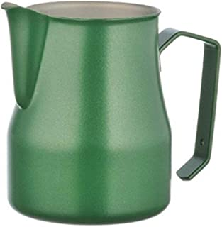 Metallurgica Motta MO-02835/00 8007986028358 Motta Stainless Steel Professional Milk Pitcher, Green, 11.8 Fl. Oz, One size