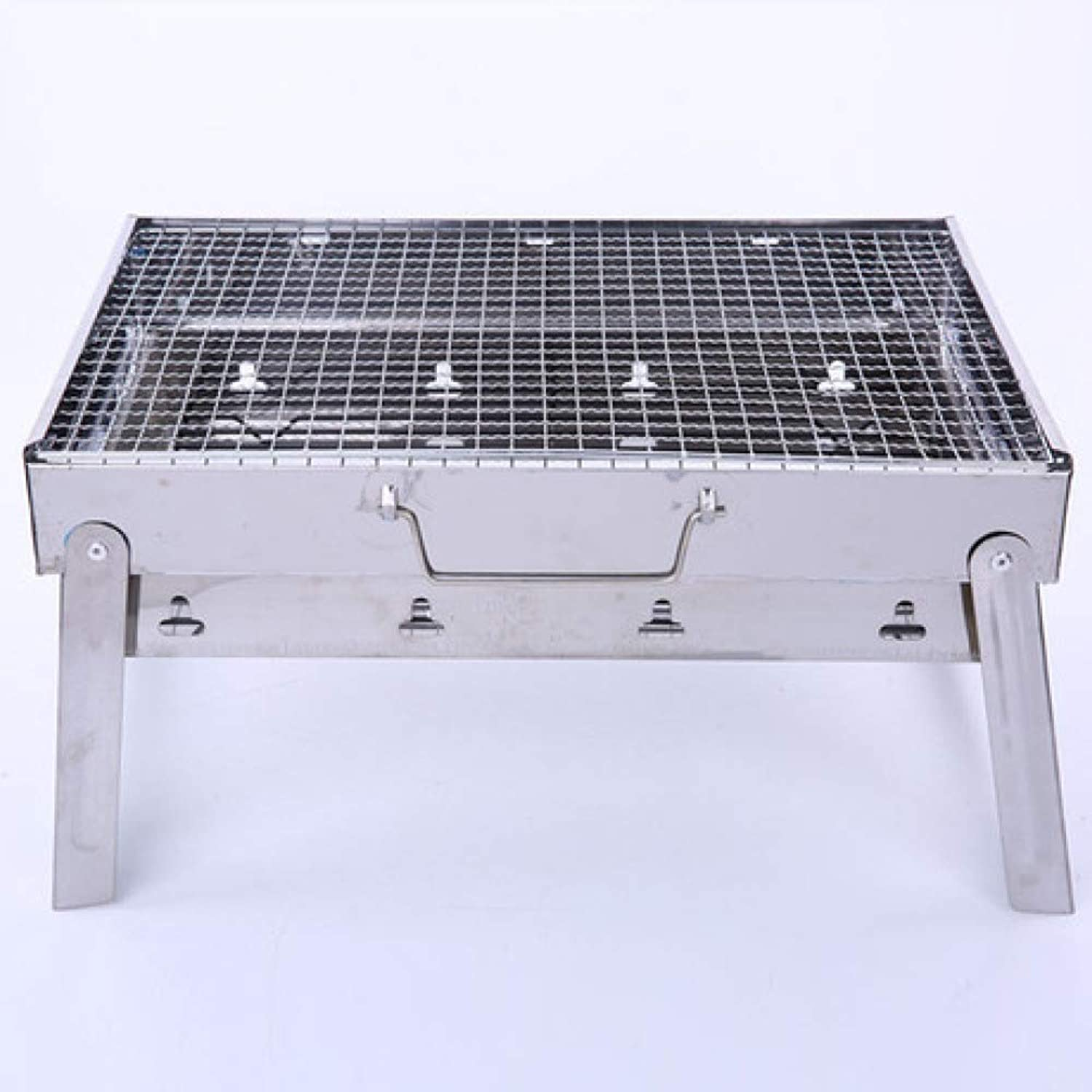 BBQ Supplies Barbecue Easy Barbecues Set Barbecue Oven Portable Stainless Steel Charcoal Grill Grill Outdoor Household Dual-use Steel BBQ Furnace