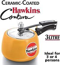 Hawkins Ceramic CMY30 Coated Contura Pressure Cooker, 3 L, Mustard Yellow