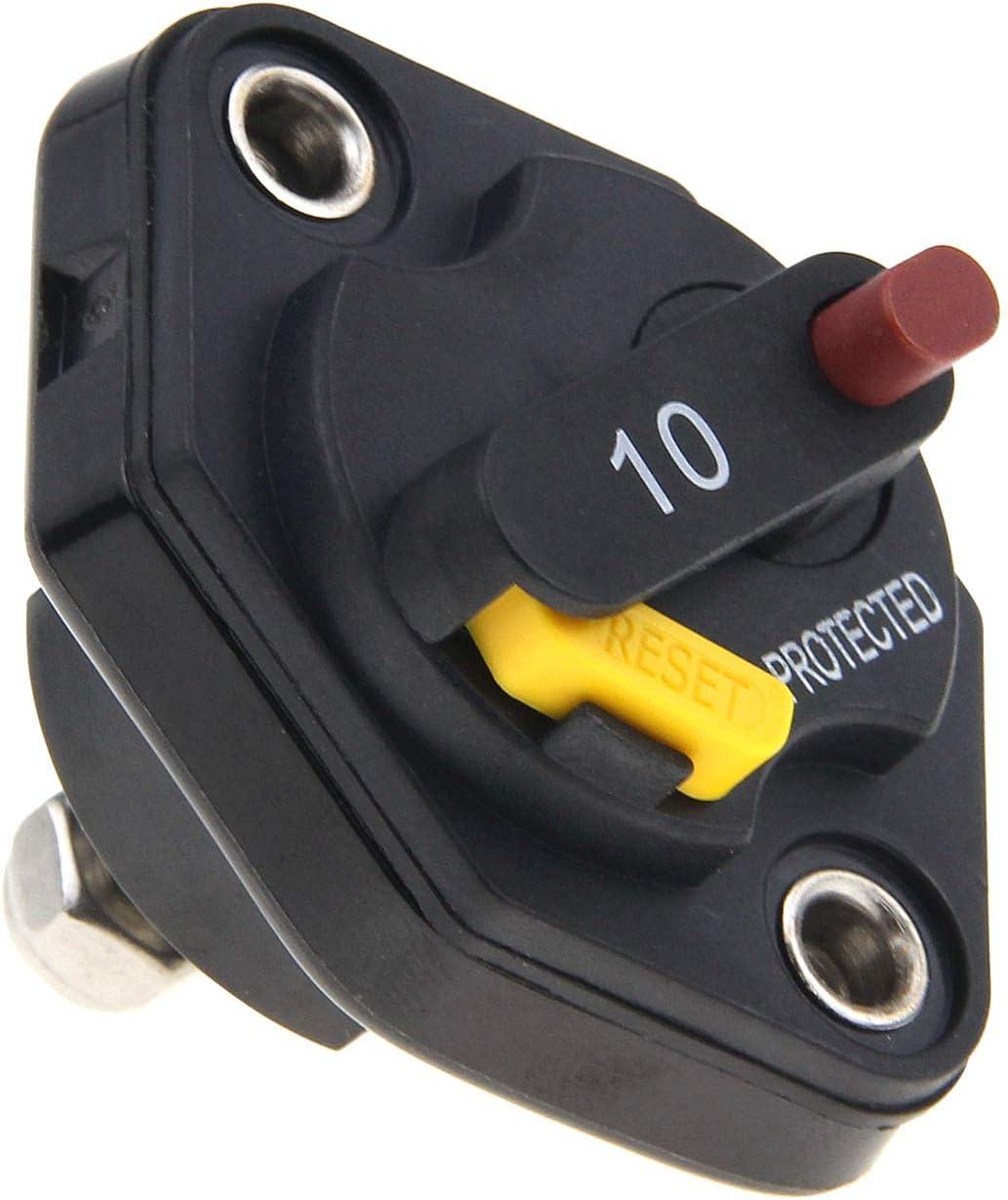 RKURCK 12V-32V DC Manual Reset Circuit Breaker Fuse Inverter 15A ...