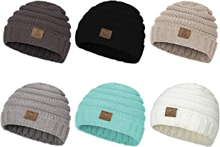 Zando Winter Baby Beanie Hat Cute Soft Warm Knitted Beanies Infant Toddler Cozy Cap for Boys Girls E 6 Pack Mix Color A One Size(6-48 months)