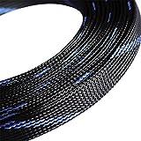 Godagoda Fils Nylon Tressé Gaine Tressée Extensible Câble Protection Noir Bleu Rouge 3-12mm Coupe Souple Élastique Résistance au Frottement