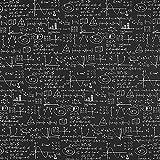 Dekostoff Canvas Formeln – schwarz — Meterware ab 0,5m