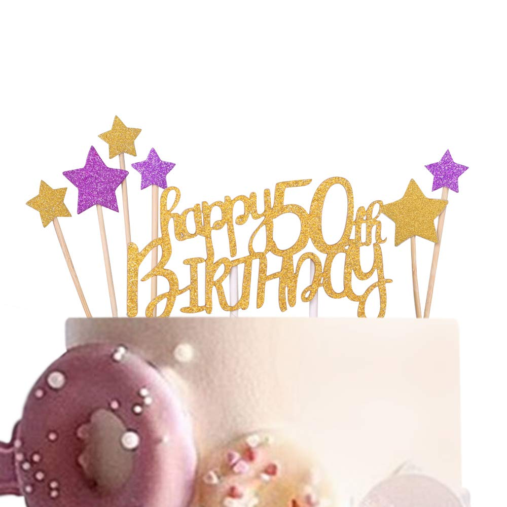 Brilliant Sunny Zx Happy 50Th Birthday Cake Topper For 50Th Birtdhay Happy Personalised Birthday Cards Veneteletsinfo
