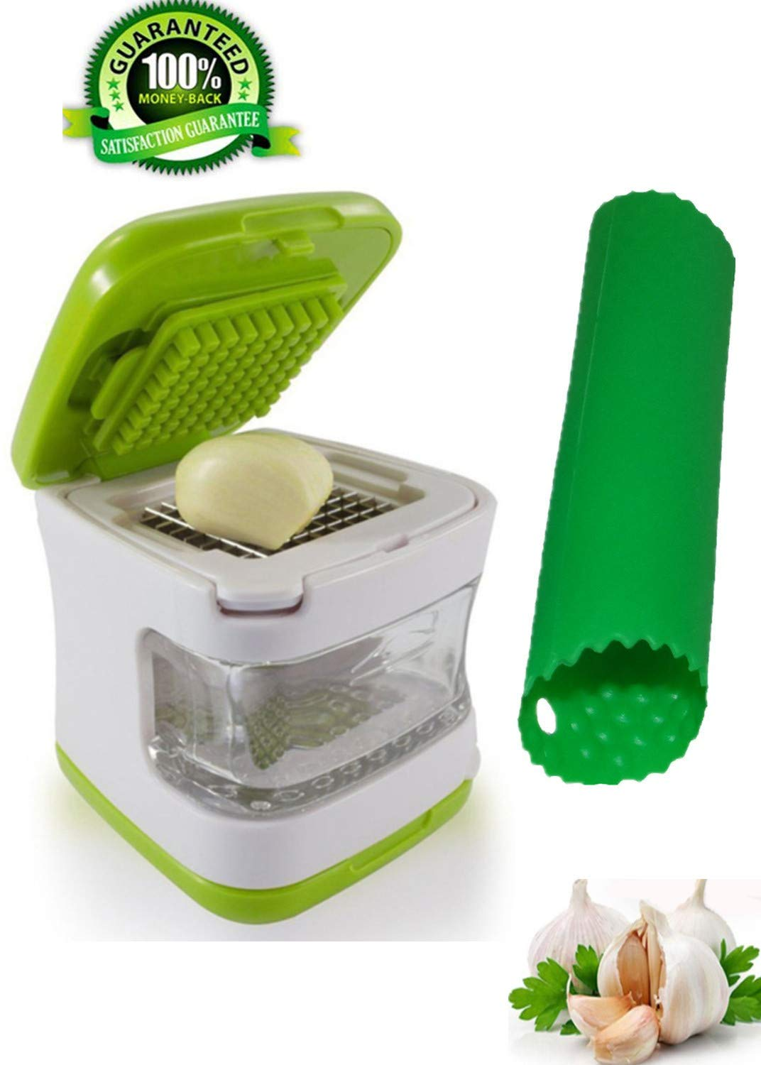 Press Garlic Innovative Cube Crusher Container Stainless