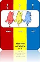 Numbers Colors, 123 number, One Cat Two Cats, red cat (ABC123s Book 1)