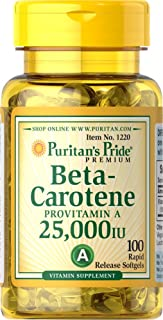 Puritan's Pride 2 Pack of Beta-Carotene 25,000 IU Carotene 25,000 IU-100 Softgels