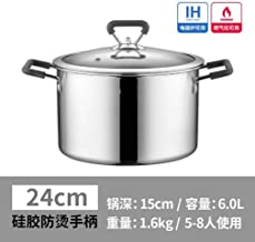 Kitchen Cookware 304 Stainless Steel Soup Pot Noodle Pot Household Thickening binaural Meat Pot Induction Cooker Gas,easy ...