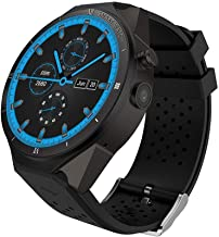 King Wear KW88 3G WiFi Smart Watch Cell Phone All-in-One Bluetooth Android SIM Card with GPS,Camera,Heart Rate Monitor,Google map (Black/Tarnish PRO)