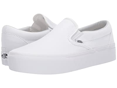 Vans Classic Slip-On Platform (True White) Slip on Shoes