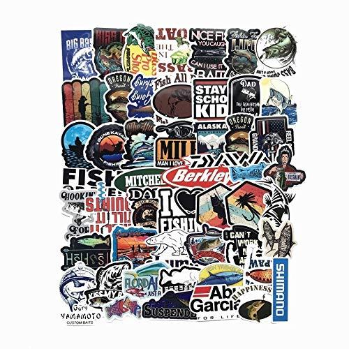 BLOUR New 50 Funny Fisherman Go Angeln Aufkleber Für Laptop Koffer Gefrierschrank Vinyl Auto-Styling DIY Dekoration Aufkleber Auto Aufkleber 2020