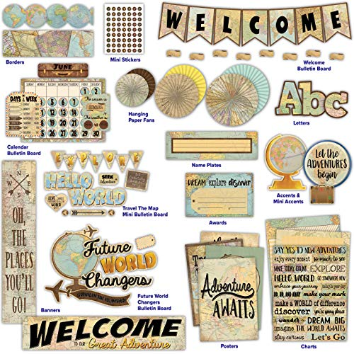 Travel The Map Classroom Environment Décor All in One Collection Kit