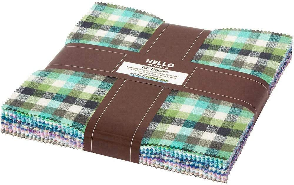 Mammoth Junior Flannel Cool Ten Squares Square 10-inch Long-awaited 42 Cheap mail order sales Layer