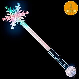 Lumistick LED 21 Inch Snowflake Magic Ball Wand | Illuminate Light Up Style Xmas Stick | Flashing Ultra Bright Fairytale Stick Glowing Toy (1 Magic Wand)