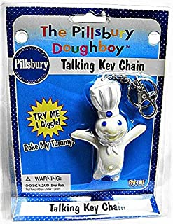 Pillsbury Doughboy 1998 Fun 4 All Talking/Giggling Key Chain/Keychain-Very Rare