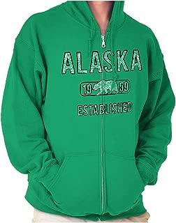 Alaska Polar Bear Vintage Gym Workout AK Zip Hoodie