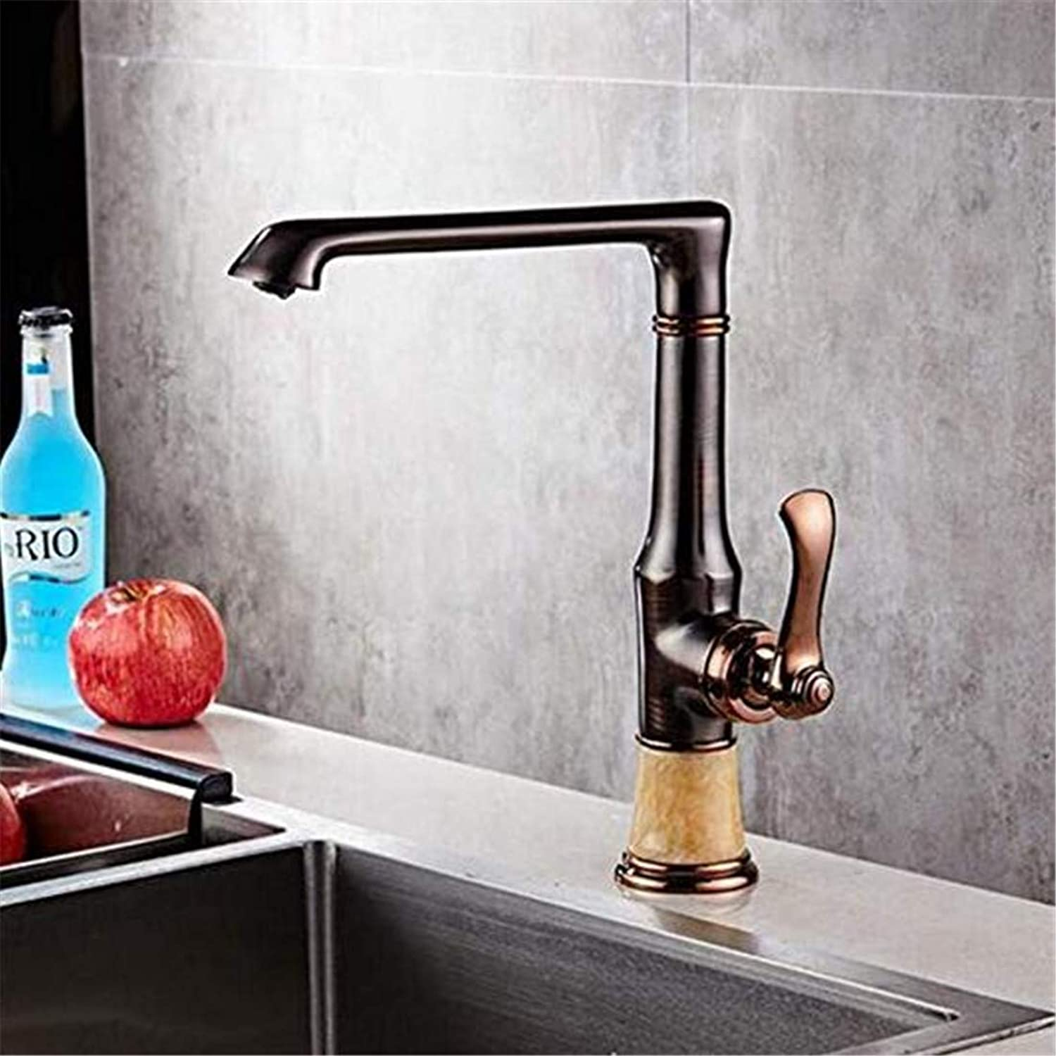 Modern Hot and Cold Vintage Platingall Copper Bathroom Faucet European Archaize Hotel Basin Faucet