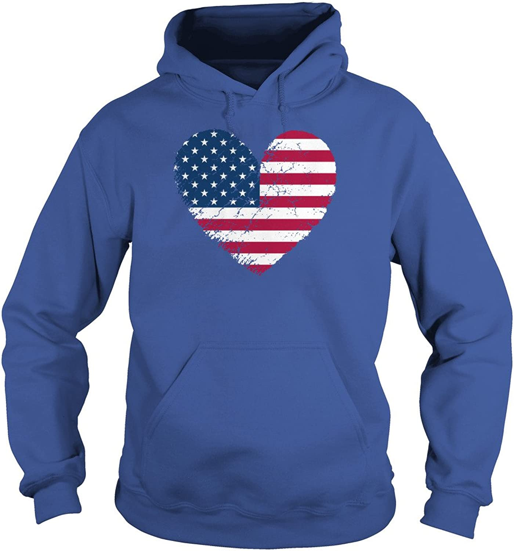 USA Flag Heart Distressed Patriotic T-Shirt