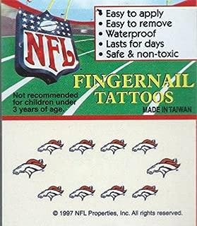 denver broncos fingernail tattoos