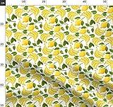 Banane, Blätter, Wasserfarben, Muster, Zitrone, Obst