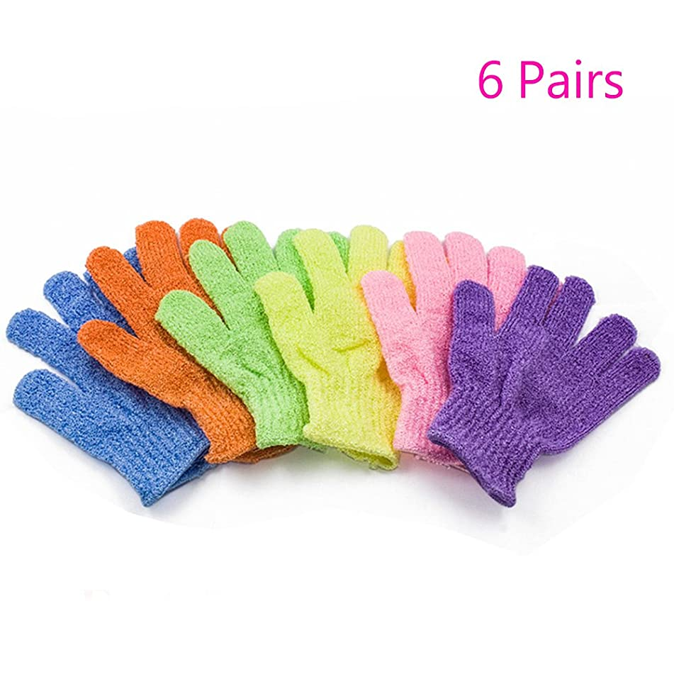 3/6/12 Pairs Magik Exfoliating Spa Bath Gloves Shower Soap Clean Hygiene Wholesale Lots (6 Pairs)