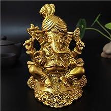 Golden Lord Ganesha Statue Buddha Elephant God Sculptures Ornaments Home Decoration