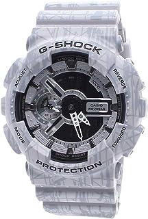 Casio G-Shock Mens Analog-Digital Gray Strap Watch GA110SL-8A