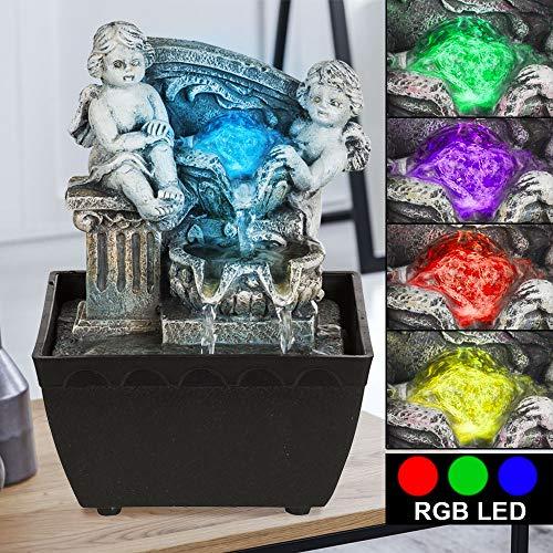 LED Tisch Spring Brunnen RGB Farbwechsel Lampe Wohn Zimmer Dekoration Leuchte grau