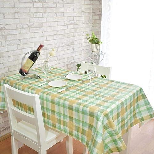 MARCU Home Prougeection de l'environneHommest PVC Table Table Table imperméable Anti-Huile nappes rectangulaire Anti-Chaud, Simple réseau, 1, 100  137cm