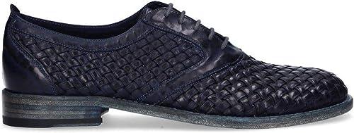 MIRAGE CALZATURE Homme 9302 Bleu Bleu Bleu Cuir Chaussures à Lacets e7e