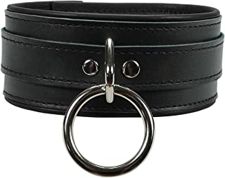 VP Leather Melanie Collar Premium Full Grain Leather Handmade Collar O-Ring
