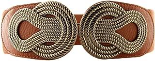 TY belt Women Elastic Stretch Wide Waist Belt in Vintage Twisted Buckle