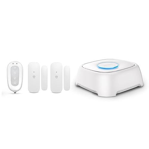 SMANOS W020 - Système d'alarme sans-fil en Wi-Fi comprenant 1 W020, 1 télécommande, 2 contacteurs port/fenêtre