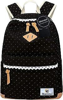 Rucksack Damen Schule, Marsoul Segeltuch Rucksack Mädchen Schulethnischer Stil Rucksack Lacy