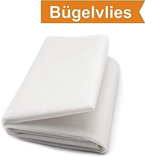 ZADAWERK Bügelvlies - 4018 - Weiß - 90 x 100 cm - einseitig Stoffe zum nähen