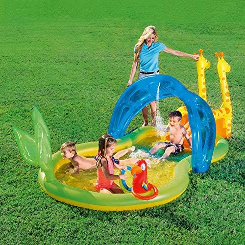 WYX Aufblasbarer Pool, Kinderpools Baby-Pool Gartenbadewanne Großes Planschbecken 338 × 167 × 129 cm