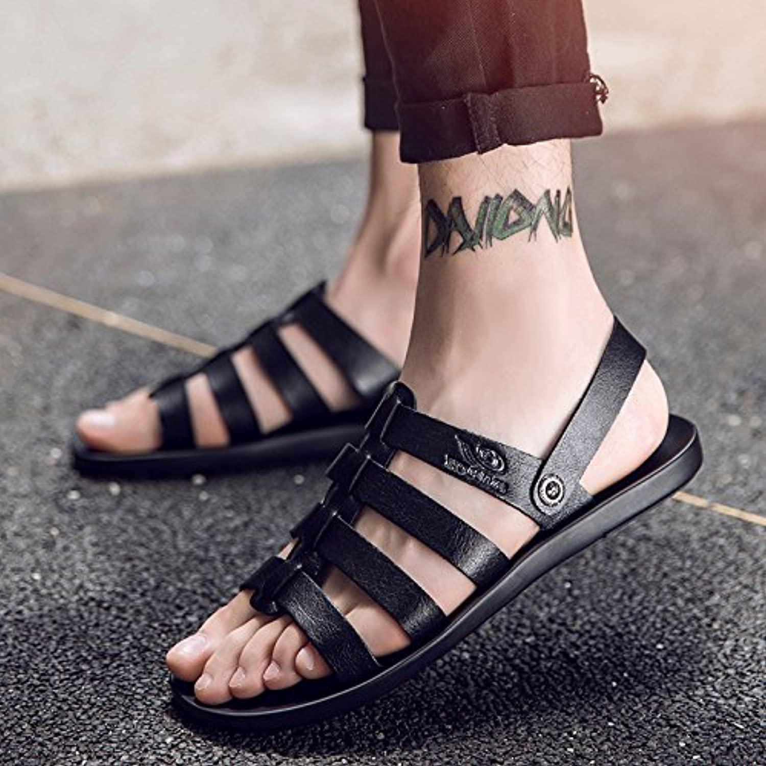 @Sandals Summer, Men'S Casual shoes, Korean Style, Cool Slippers, Outdoor Fashion Beach shoes.