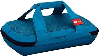 Pyrex 1126072 Portable Chevron Turquoise Bag No Glass, 071160102637