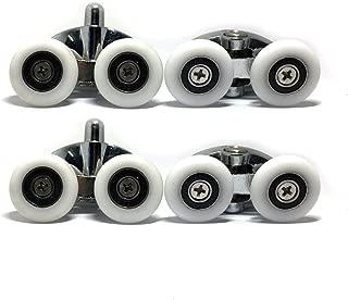 Set of 4 Double Butterfly Shower Door ROLLERS /Runners /Wheels 25mm diameter