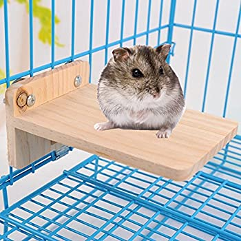 Hypeety animal domestique en bois plate-forme de petits animaux Oiseau Perchoir Playground Mouse, Totoro, Nain, chinchilla, hamster, gerbille Paw broyage Cage Accessoires