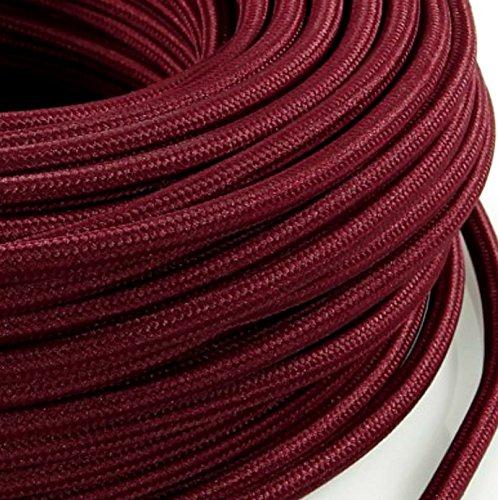 Fabriqu/é en Italie blanc Tissu satin/é C/âble /électrique rond pour /éclairage blanc