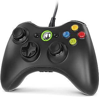 Gezimetie Manette Xbox 360, Manette Xbox PC Joystick et Xbox 360 de Connection USB - Double Vibration - Design Ergonomiqu...