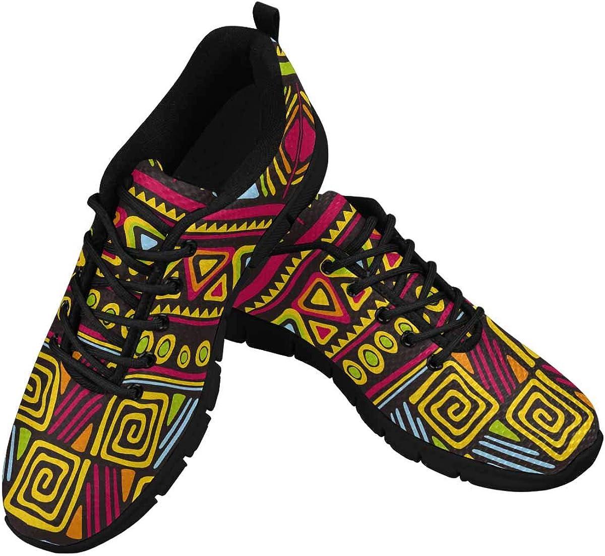 InterestPrint African Traditional Print Women's Athletic Walking Shoes Comfort Mesh Non Slip