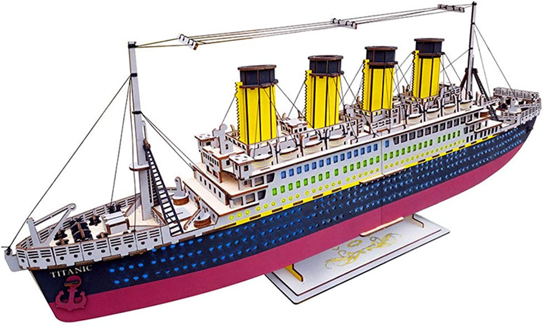 Wxk Puzzles Jigsaw Ship Laser Schneiden 3D Holz Puzzles Geschenk Kinder Teenager Erwachsene Auch Ornamente