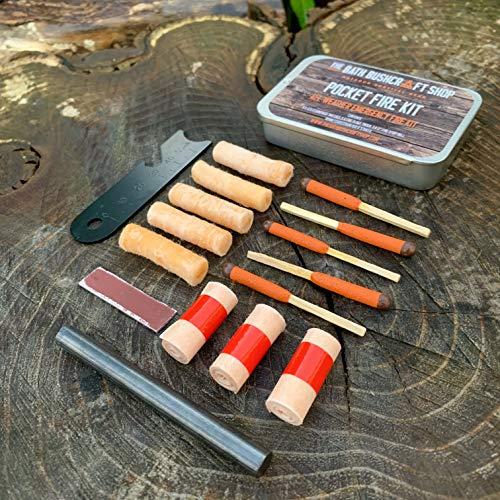 Image of EDC Taschenfeuerkit, Notfall-Feuerstarter-Set, Überlebensausrüstung für Überlebensarbeiten