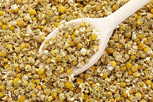 bMAKER Dried Chamomile Tea Flowers (4oz) - Whole Loose Leaf Bulk Bag - Kosher Certified Herbs for Relaxation Herbal Tea, Soap Making, Lotion, Shampoo, Essential Oil Extract and More