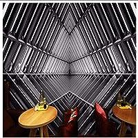 Djskhf 壁紙3D 3Dステレオインダストリアルスタイル金属壁紙抽象的な人格背景バーコーヒーショップテーマホテルカフェ壁画 100X50Cm