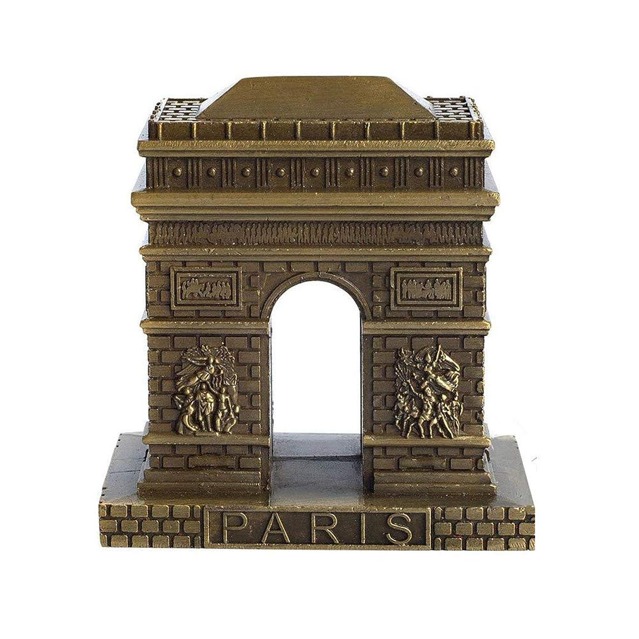 スリラー乏しいだますIMAX? ビンテージブロンズパリ凱旋門像、置物ホームデスクトップ装飾お土産金属人工世界の有名な建物彫刻(3インチ)